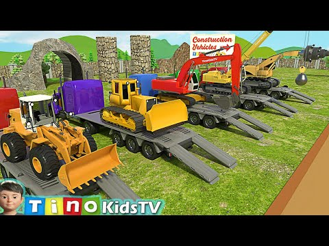 Construction Vehicles Show for Kids | Uses of Roadheader & Other Trucks for Children