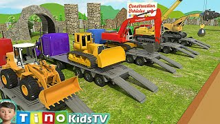 Construction Vehicles Show for Kids  Uses of Roadheader \u0026 Other Trucks for Children