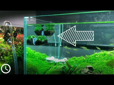 DIY Black Lava Aquarium Decoration - Avatar like levitating floating rocks for Aquascaping