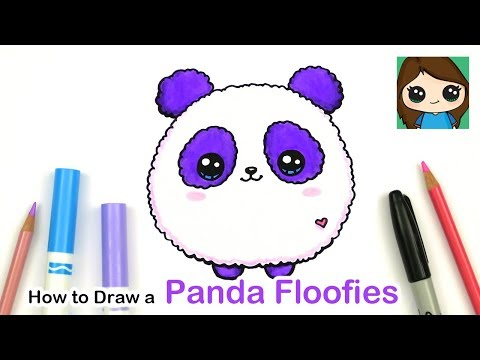How To Draw A Baby Panda Easy Floofies Fluffy Youtube