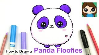 How to Draw a Baby Panda Easy | Floofies Fluffy