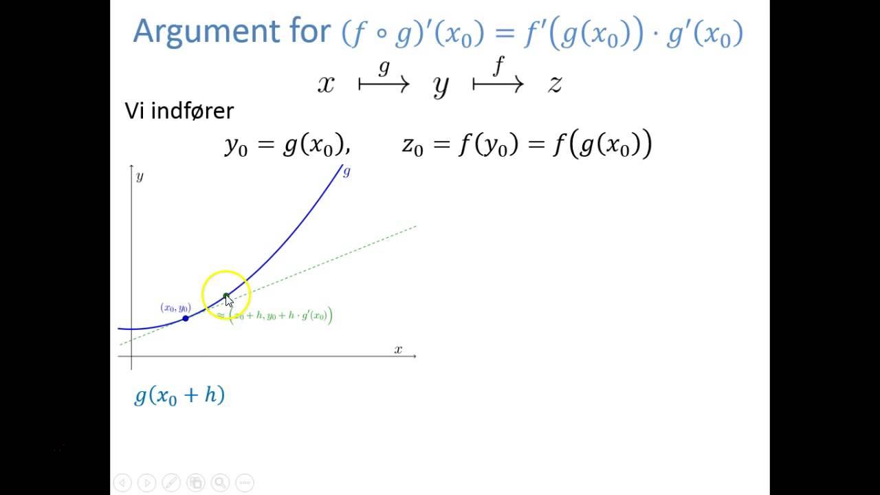 Regneregler - Argument: Sammensat funktion f◦g