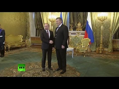 Встреча Владимира Путина и Виктора Януковича в Москве