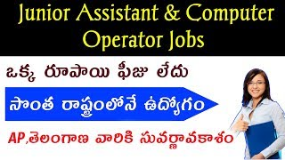 Latest Govt Jobs 2018 || Junior assistant & computer operator jobs || Job search