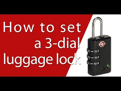 How To Set A 3-dial Luggage Lock