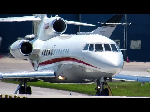 Barack Obama onboard! Private Falcon 900 (F900) departing Montreal (YUL/CYUL)