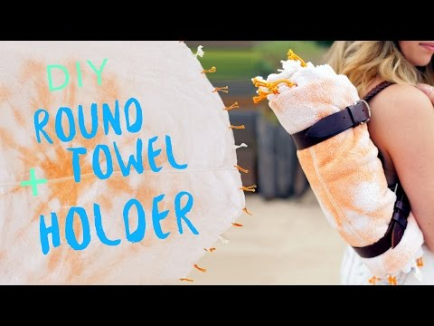DIY ROUND TOWEL + LEATHER STRAP HOLDER | THE SORRY GIRLS