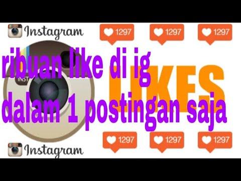 Tutorial Menambah Like Di Instagram Youtube
