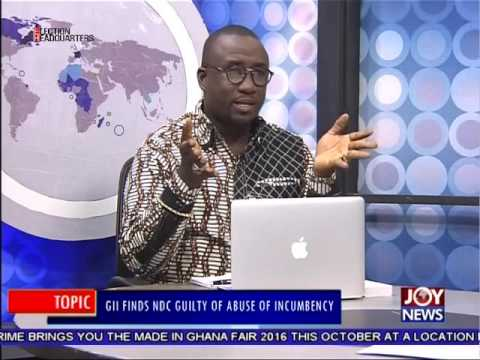 GII finds NDC Guilty of abuse of incumbency - PM Express on Joy News (17-10-16)