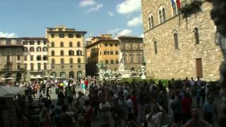 Florenz Florence Firenze with Uffizi Pitti Palace and Fontana del Nettuno Piazza della Signoria