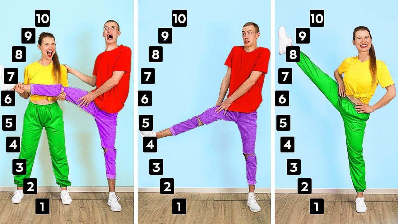 WE TESTED VIRAL TikTok TRICKS! Flexibility Challenge | Coolest Tricks and Hacks By 123 GO! CHALLENGE