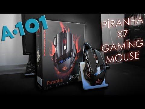 A101'de 20₺'ye Satılan Piranha X7 Gaming Mouse Kutu Açılımı ve İncelemesi | Piranha 7635 Mouse