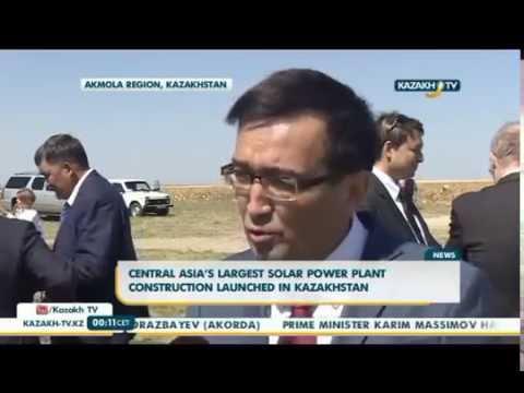 Central Asia's largest solar power plant construction launched in Kazakhstan