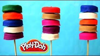 PALETAS DE PLASTILINA PLAY DOH| How to Make Play Doh Lollipops | Mundo de Play Doh