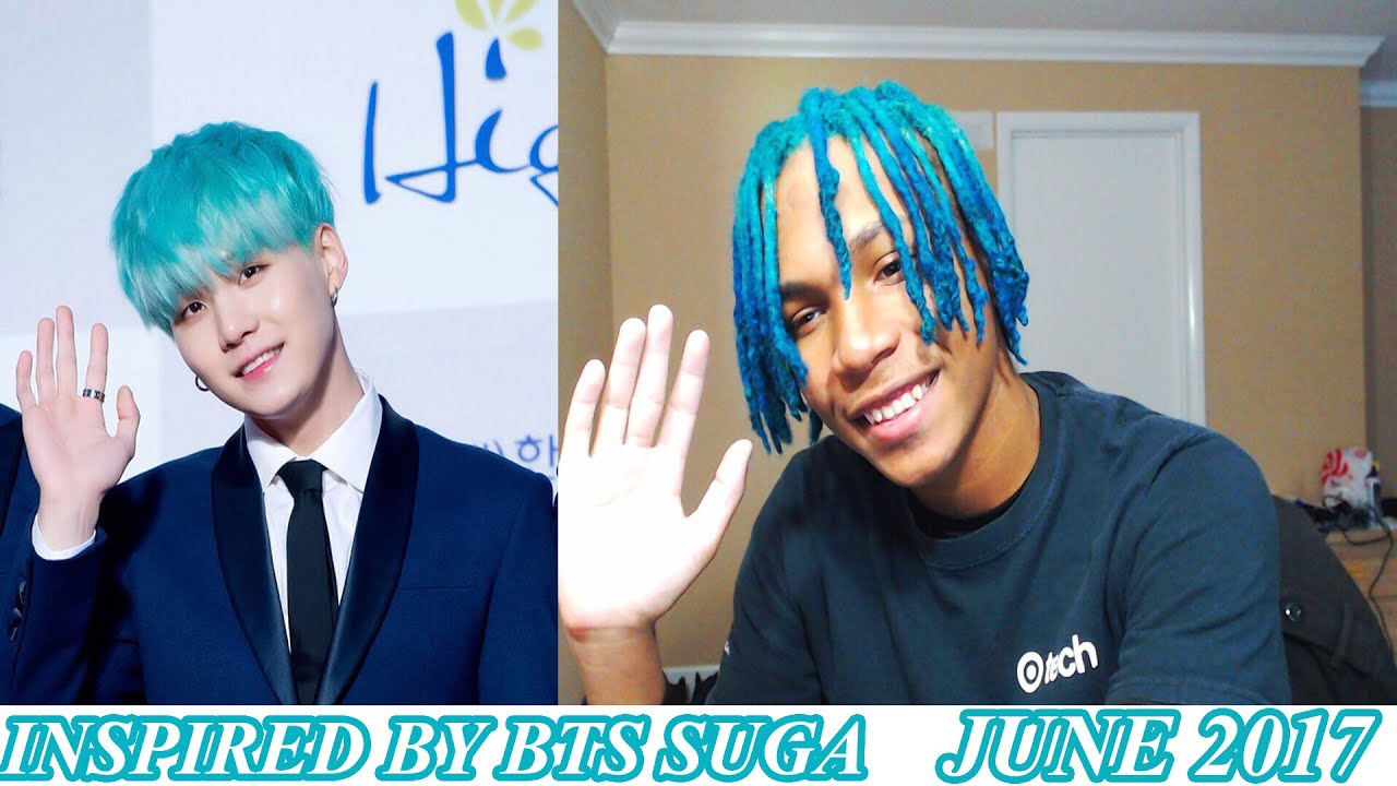 Dying My High Top Dreads Mint Inspired By BTS Suga
