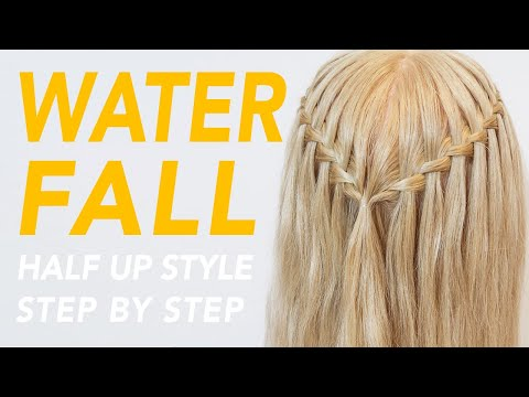 how-to-waterfall-braid-step-by-step-for-beginners-[cc]-|-everydayhairinspiration
