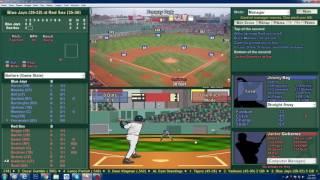 Baseball Mogul 6 21 1985 Blue Jays at Red Sox Key vs Oil Can Boyd