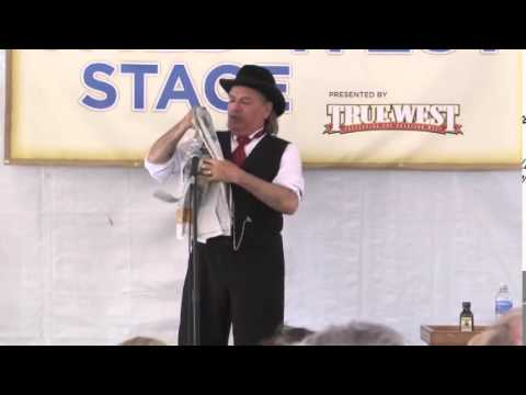 Cowboy Festival ~ Torn and Restored Newspaper