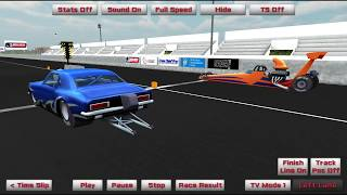 Drag Race Simulation with Time Slip Simulator
