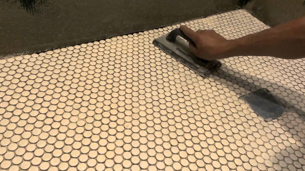 How to install mosaic tiles - YouTube