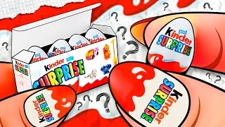 How To Make a Miniature KINDER Surprise Eggs Pack? DIY Doll Tutorial ♥