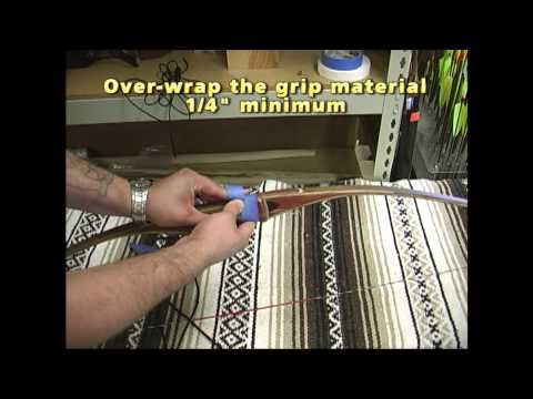 How to Wrap a Recurve or Longbow Grip