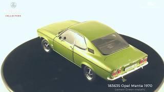 Opel Manta 1970 Lemon Green Metallic Norev 2018 Miniature