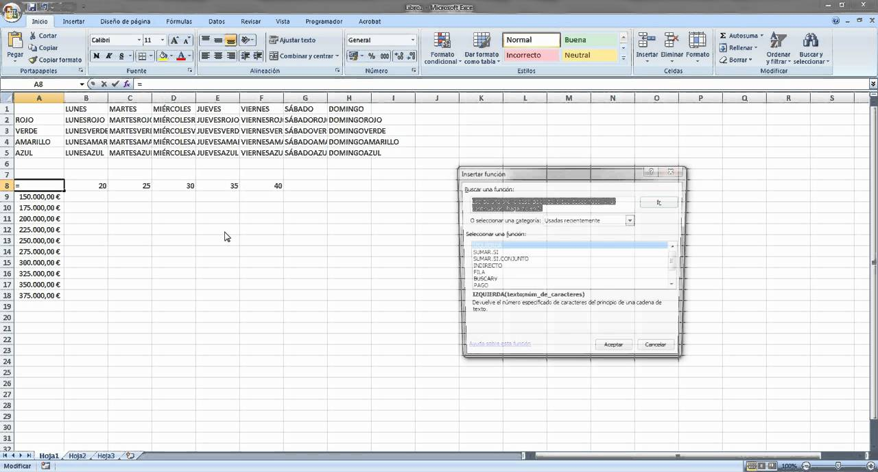 Tutorial Tabla De Datos Excel 2007 Youtube