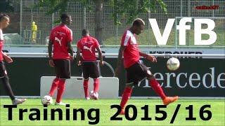 training vfb stuttgart abseits und torwarttraining fr die 1 bundesliga saison 2015 16