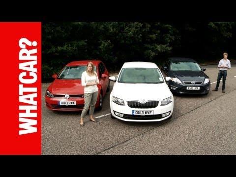 What Car Family Cars Group Test Skoda Octavia vs Ford Mondeo vs VW Golf