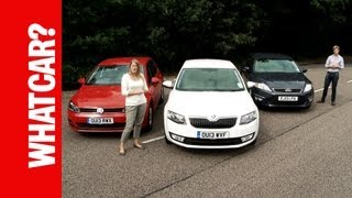 What Car? Family Cars Group Test - Skoda Octavia vs Ford Mondeo vs VW Golf