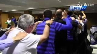 Montanier celebra la Champions bailando 'La Conga'