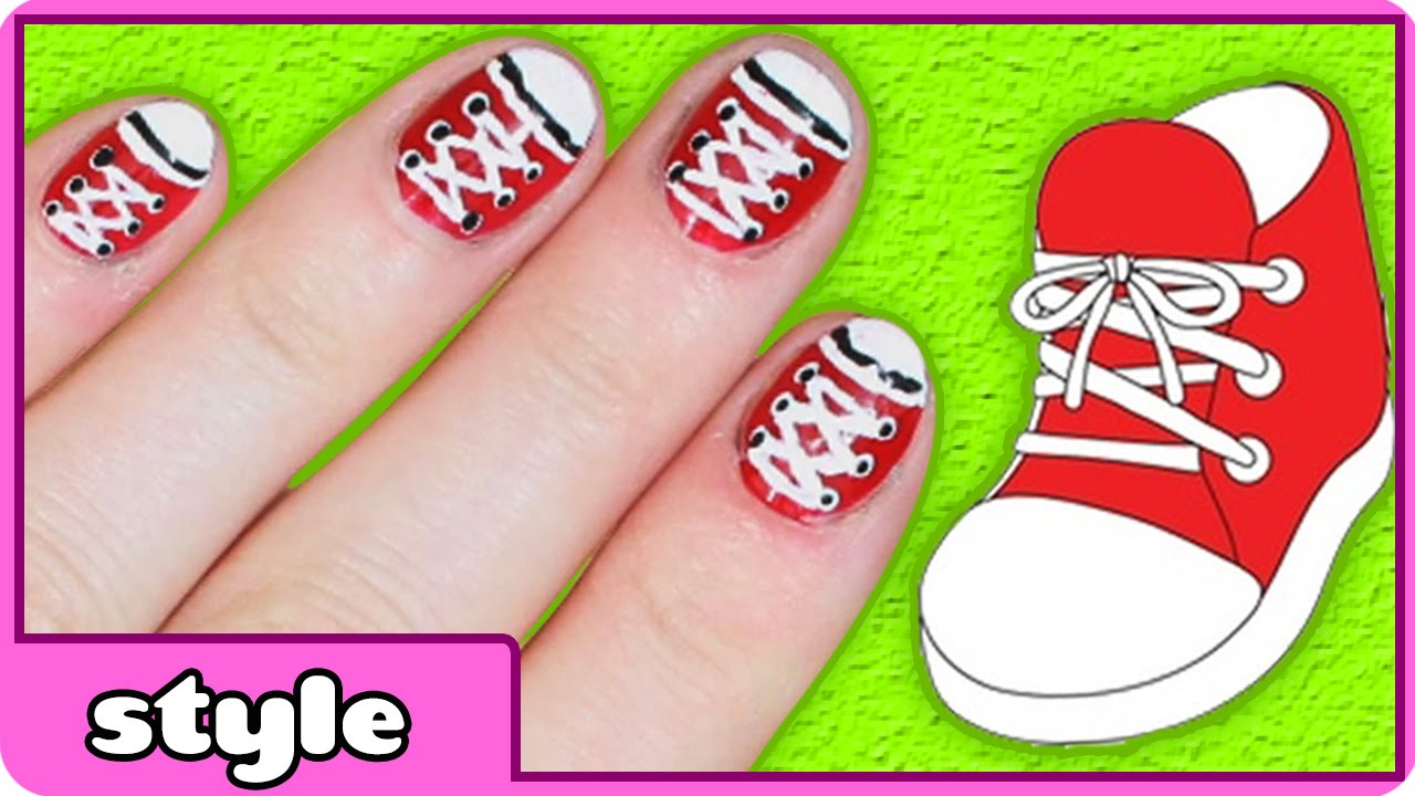 Nail Art Designs Shoe Easy At Home No Tools Needed You