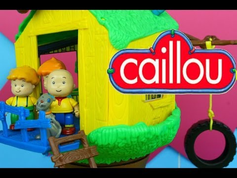 Caillou's Treehouse with Caillou Rosie Leo & Gilbert the Cat!