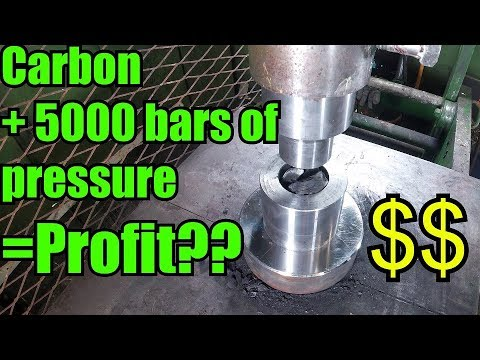 Can you Turn Coal/Carbon in to Diamonds with Hydraulic Press