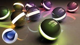 Создание абстрактной 3D композиции со сферами в Cinema4D r16 и Photoshop cs6.