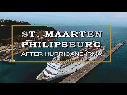 ST. MAARTEN-Phlipsburg Boardwalk January 2018 Post Hurricane IRMA [HD]
