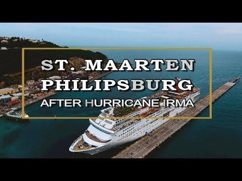 ST. MAARTEN-Phlipsburg Boardwalk January 2018 Post Hurricane IRMA [HD]