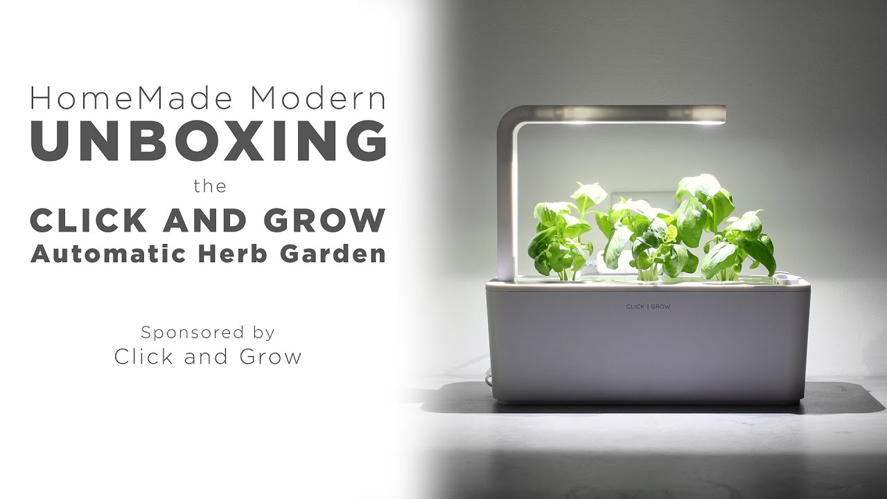ROBOT GARDEN! Unboxing The Click And Grow Smart Herb Garden   YouTube