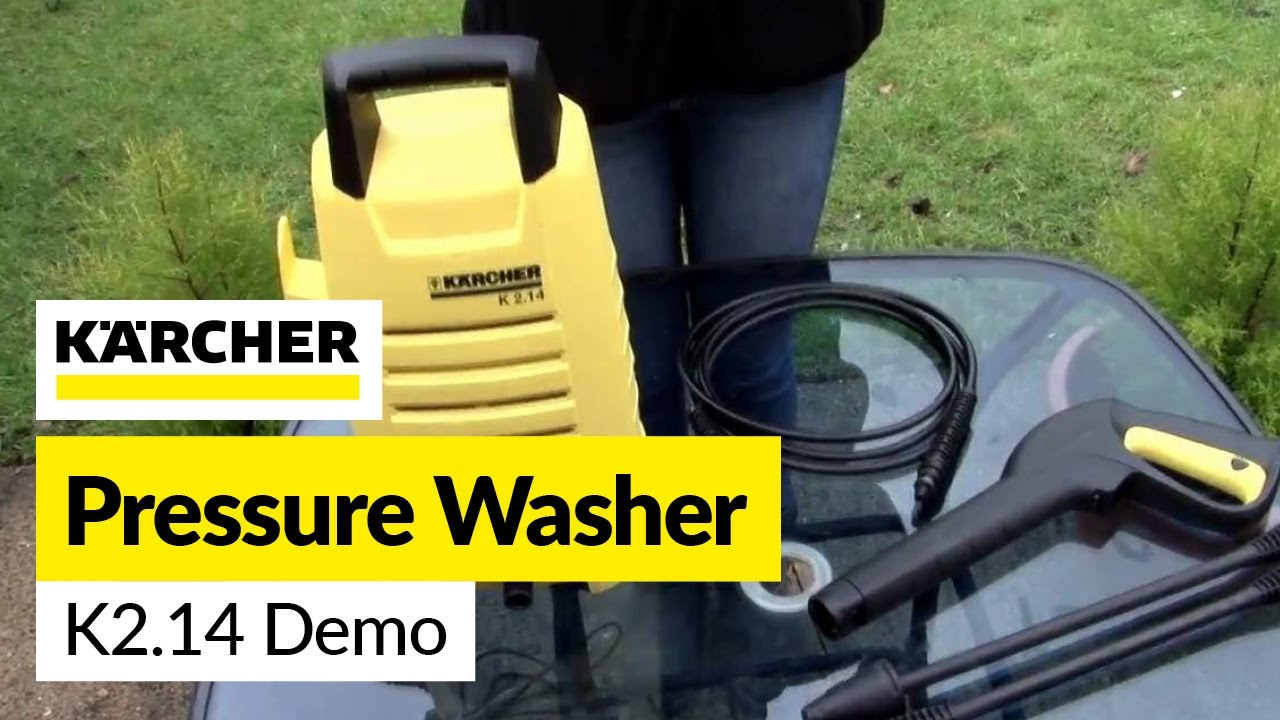 Karcher K2.14 Pressure Washer Demonstration - YouTube