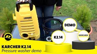 Karcher K2.14 Pressure Washer Demonstration