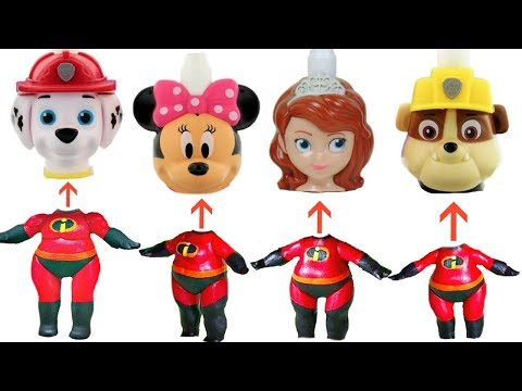The Incredibles LOL Surprise Have Paw Patrol and Sofia the First Wrong Heads