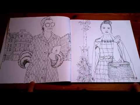 Look - fashion coloring book