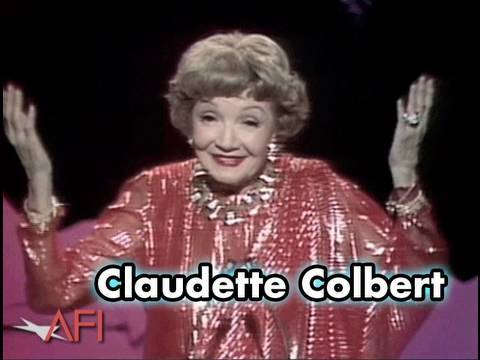 Claudette Colbert Salutes Frank Capra at the AFI Life Achievement Award