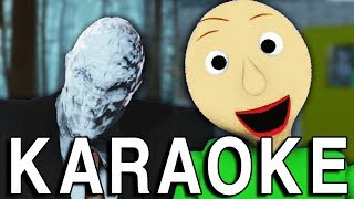 [KARAOKE] Slenderman vs Baldi. Video Game Rap Battles