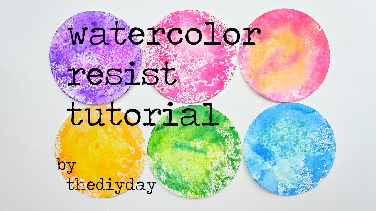 how to easy watercolor resist youtube