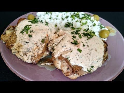 Жареная курица Рецепт с соусом Что как приготовить вторы блюда из курицы на обед дома быстро вкусно