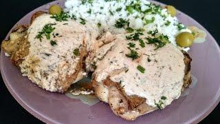 Жареная курица с соусом - второе блюдо на обед с курицей, быстро и вкусно