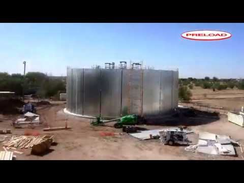 Complete Wire-Wrapped Prestressed Concrete Tank Construction