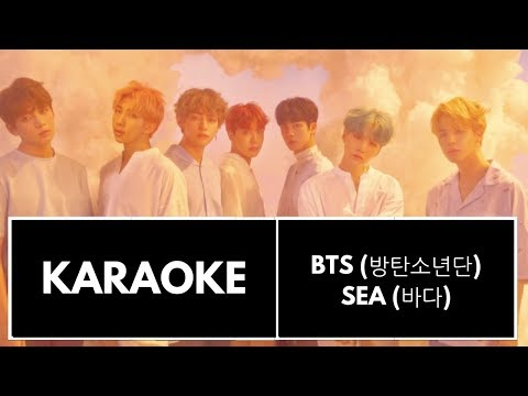 BTS (방탄소년단) - Sea (바다) KARAOKE/INSTRUMENTAL (With BG Vocals)